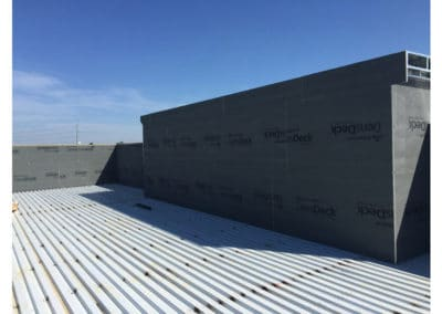 Flat Metal Commercial Roof